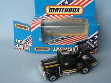 Matchbox Kenworth Tyrone Malone Race Truck Black Body USA Car Toy Model Convoy
