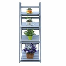4 Tier Grey Ladder Shelf Display Unit Free Standing/Folding Book Stand / Shelves