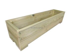 Large Decking Planter Trough, Raised Wooden Garden Flower Bed box, Various Sizes
