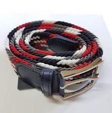 Cinta Cintura Uomo Intrecciata Multicolore Rossa Glamour Fashion Alla Moda hac