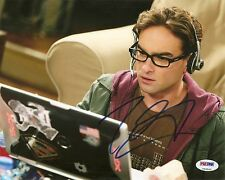 Johnny Galecki The Big Bang Theory 8x10 Photo Signed Auto PSA/DNA COA