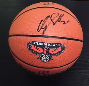 Dominique Wilkins Autographed Spalding Atlanta Hawks NBA Basketball/ JSA