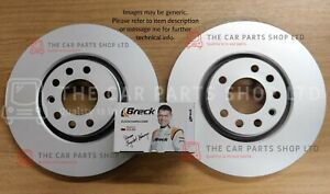 FOR FORD MONDEO MK5 2.0 TDCI 2014> COATED REAR BRAKE DISCS AND BRECK BRAKE PADS