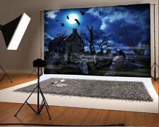 5x3ft Vinyl Studio Photography Backdrop Night Scary City Background Prop