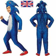 Sonic Cosplay The Hedgehog Jumpsuit  Costume Party Kids Boys Fancy Dress set UK