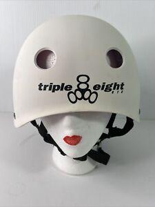 Triple Eight Youth Bike Helmet White Size XXL Model SK-02 EPS Foam High Impact