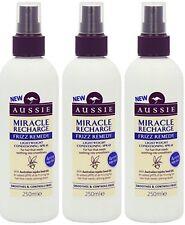 Aussie Milagro Recarga Frizz Remedio ligero acondicionado Spray 3X 250ML