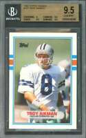 Troy Aikman Rookie Card 1989 Topps Traded #70T Cowboys BGS 9.5 (9 9.5 9.5 9.5)