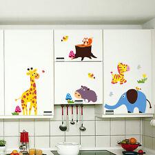Wandtatto Wandsticker Aufkleber Dekorativ Bunt Tiere Kinderzimmer Giraffe  XXL