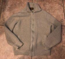 Vtg Tundra Women's Wool Beige Full Zip Sweater CANADA Size L