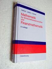 Hettich,Jüttler,Luderer ,Mathematik für Wirtschaftswissenschaftler und Finanzmat
