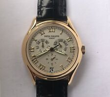 NOS Patek Philippe 5035J Annual Calendar -White Ceramic Dial-18k Gold-Box/Papers