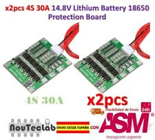 2pcs 4S 30A 14.8V Li-ion Lithium Battery PCB BMS 18650 Charger Protection Board