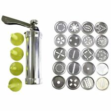 Stainless Steel Biscuit Press Set Cookie Maker Machine Kit 20 Discs 4 Icing Tips