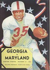 1951 GEORGIA BULLDOGS vs MARYLAND TERRAPINS NCAA Football Progam COVER ART ONLY