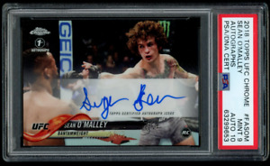 SEAN O'MALLEY 2018 Topps CHROME Refractor AUTO Rookie PSA MINT RC 10 AUTOGRAPH