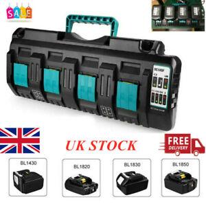 For Makita DC18SF RCT 14.4V-18V LXT Li-ion 4 Port Fast Battery Charger BL14 BL18