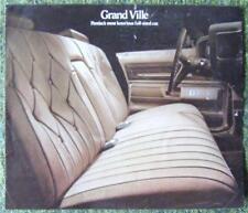 Pontiac GRAND VILLE le vendite di automobili opuscolo 1973 (USA stampa)