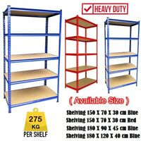5 TIER METAL SHELVING UNIT STORAGE RACKING SHELVES GARAGE WAREHOUSE SHED UKDC