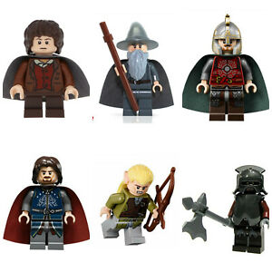 Lord Of The Rings Hobbit Bromir Mini Figures Orcs Aragorn,Frodo,Gandalf,legolas