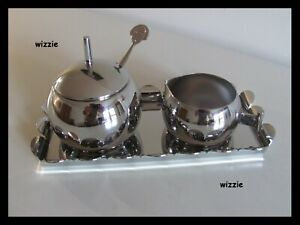 ALESSI : ANNA Sugar bowl & milk jug with tray / Alessandro Mendini