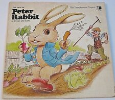 TALE OF PETER RABBIT STORY & SONG VINTAGE VINYL THE TERRYTOWNE PLAYERS LP RECORD