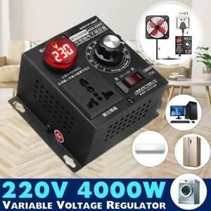 UK AC 220V 4000W Variable Voltage Regulator Speed Motor Fan Control Controller