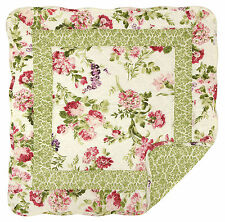 """Great Finds PINK LADY 24"""" Square Quilted Cotton Floral Table Topper, Mini Quilt"""