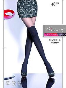 Fiore Miguela - Strumpfhose im aufregenden Overknee-Look, 40 den