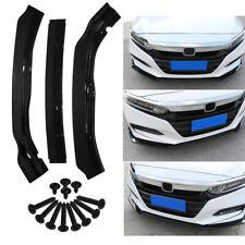 For 2018-2019 Honda Accord Sedan Glossy Black Front Bumper Lip Body Kit Spoiler