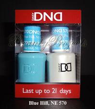 DND Daisy Soak Off Gel Polish Blue Hill NE 570 full size 15ml LED/UV gel duo