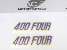 """Honda CB 400 Four F2 Aufkleber Set Seitendeckel Emblem für weinrot """"antares red"""""""