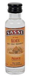 (2,99€ / 100ml) 25 x Sasse Korn Premium 32% Alc. 0,02l Fläschchen = 0,5l