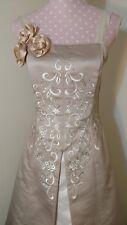 Jessica McClintock Sz. 10 princess style embroidered ecru & ivory elegant gown