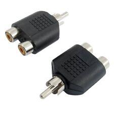 AV Audio 1 RCA Male Plug to 2 Female RCA Adapter Connector 2 Pcs PK O7J1 A7E0