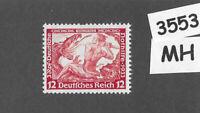 #3553    MH  Sc B54 1933 Richard Wagner stamp PF12 + PF03 Third Reich Germany