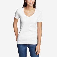 Eddie Bauer Women's Short Sleeve T-Shirt Size Small NIB white