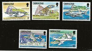 Gibraltar Scott #369-73, Singles 1978 Complete Set FVF MNH