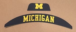 Michigan Wolverines Front And Rear Helmet 3D Bumpers For Full Size Speed Flex