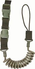 VIPER TACTICAL SPECIAL OPS PISTOL LANYARD - OLIVE - QUICK RELEASE - NEW - BUNGEE