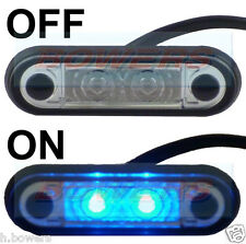 12V/24V FLUSH FIT SLIM BLUE LED MARKER LAMP LIGHT TRUCK VAN KELSA BAR AS HELLA