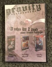 Rare! Dvd,Gravity Skateboard* 3 Vhs In 1 Dvd, Great Item Collectible New!
