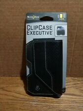 New Nite Ize Belt Clip Case Executive Large Black Leather Phone Pouch EHLL-17-R3