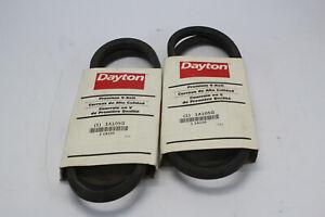 "Lot Of 2 Dayton 1A105G Premium V-Belt A45 1/2"" x 47"" New"