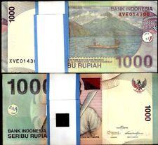 INDONESIA 100 RUPIAH P127 1992 X 100 PCS LOT FULL BUNDLE VOLCANO BOAT UNC NOTE