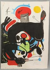 AUTHENTIC Pencil Signed Ltd Ed JOAN MIRO Carborundum Lithograph Abstract Print