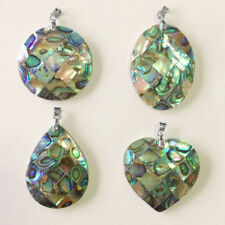 Natural Abalone Sea Shell Pendant Necklace Jewelry DIY Making Charm Accessory