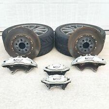09 13 Cadillac Cts V Brembo 6 Piston 4 Piston Calipers 2pc Rotors G8 Zl1 Ss