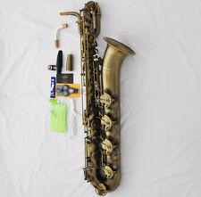 Latest TaiShan Baritone Saxophone Antique Bronze Bari SAX With ABALONE Key +Case