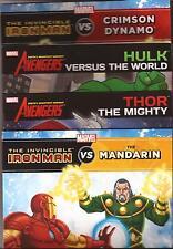 4 Marvel Books THE INVINCIBLE IRON MAN vs the MANDARIN, HULK, THOR THE MIGHTY
